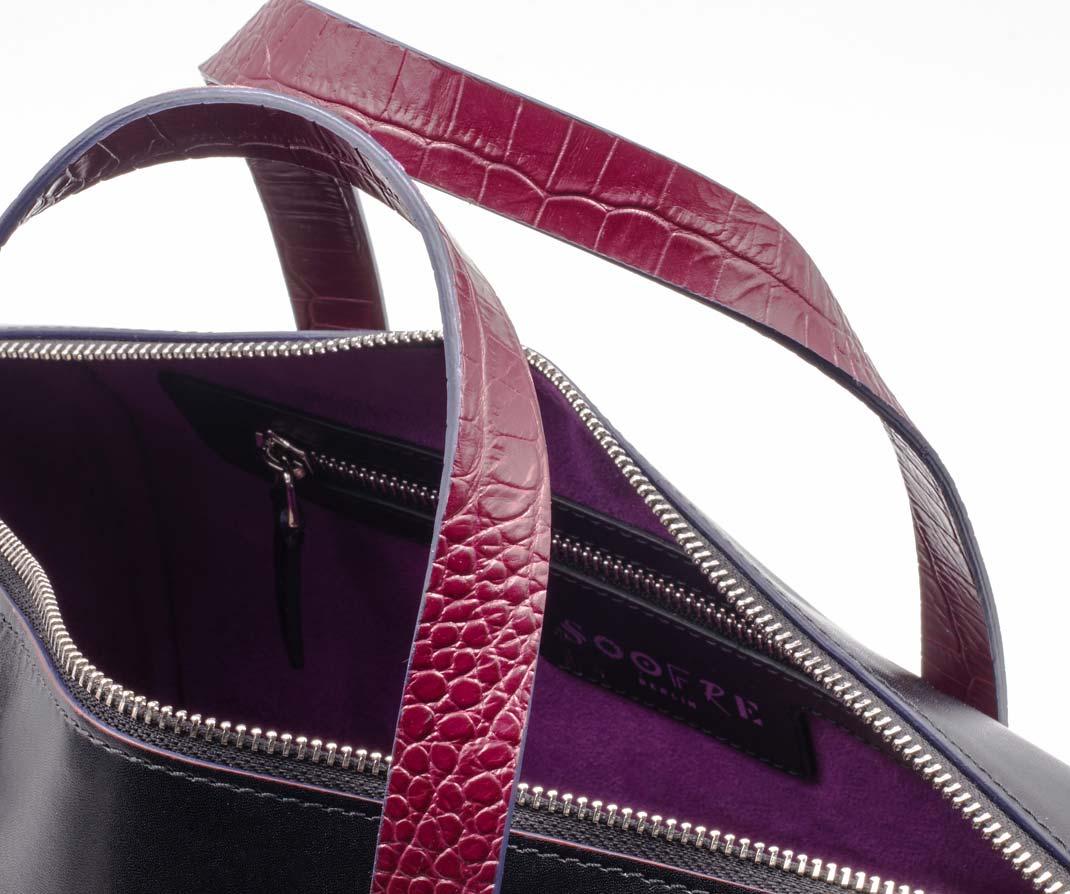 Soofre Bowler Bag Lining Fuchsia