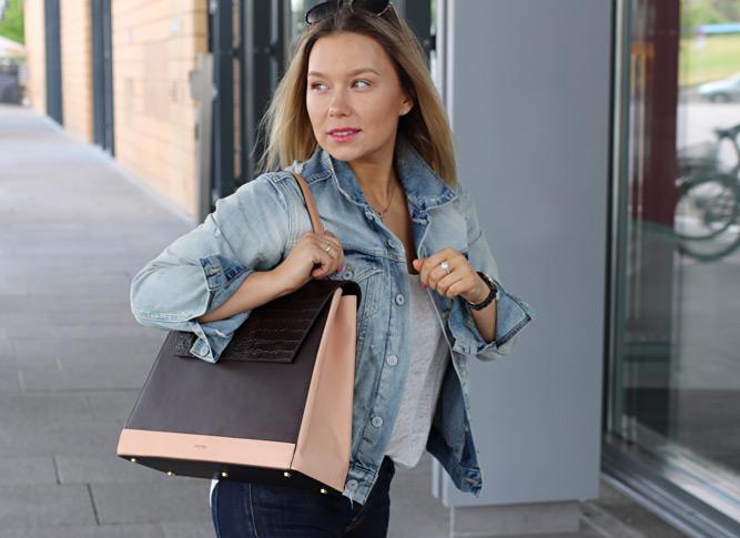 Street Fashion Berlin Soofre Croco Flap Tote Bag
