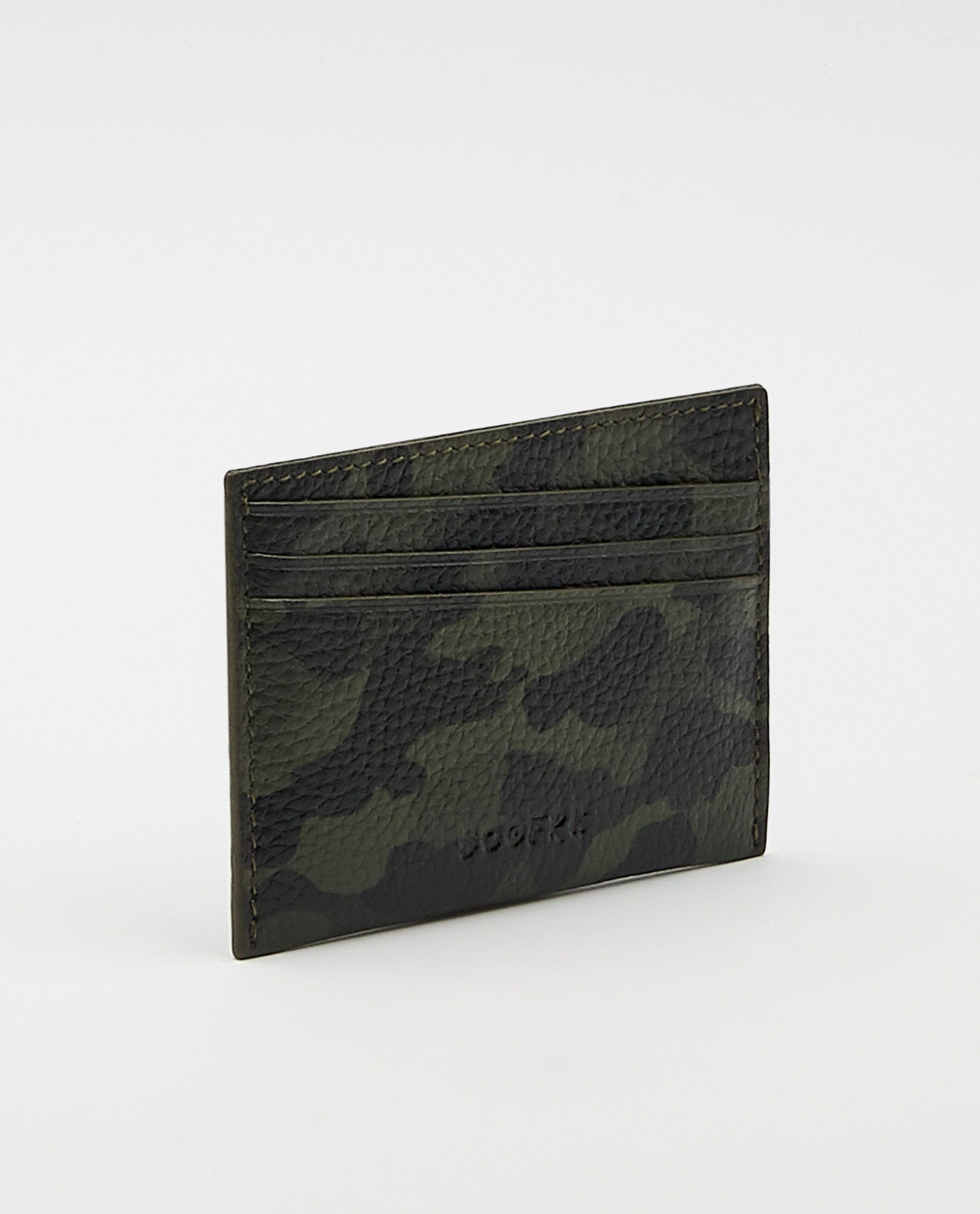 Soofre Card Holder Grainy Leather Camouflage-Khaki