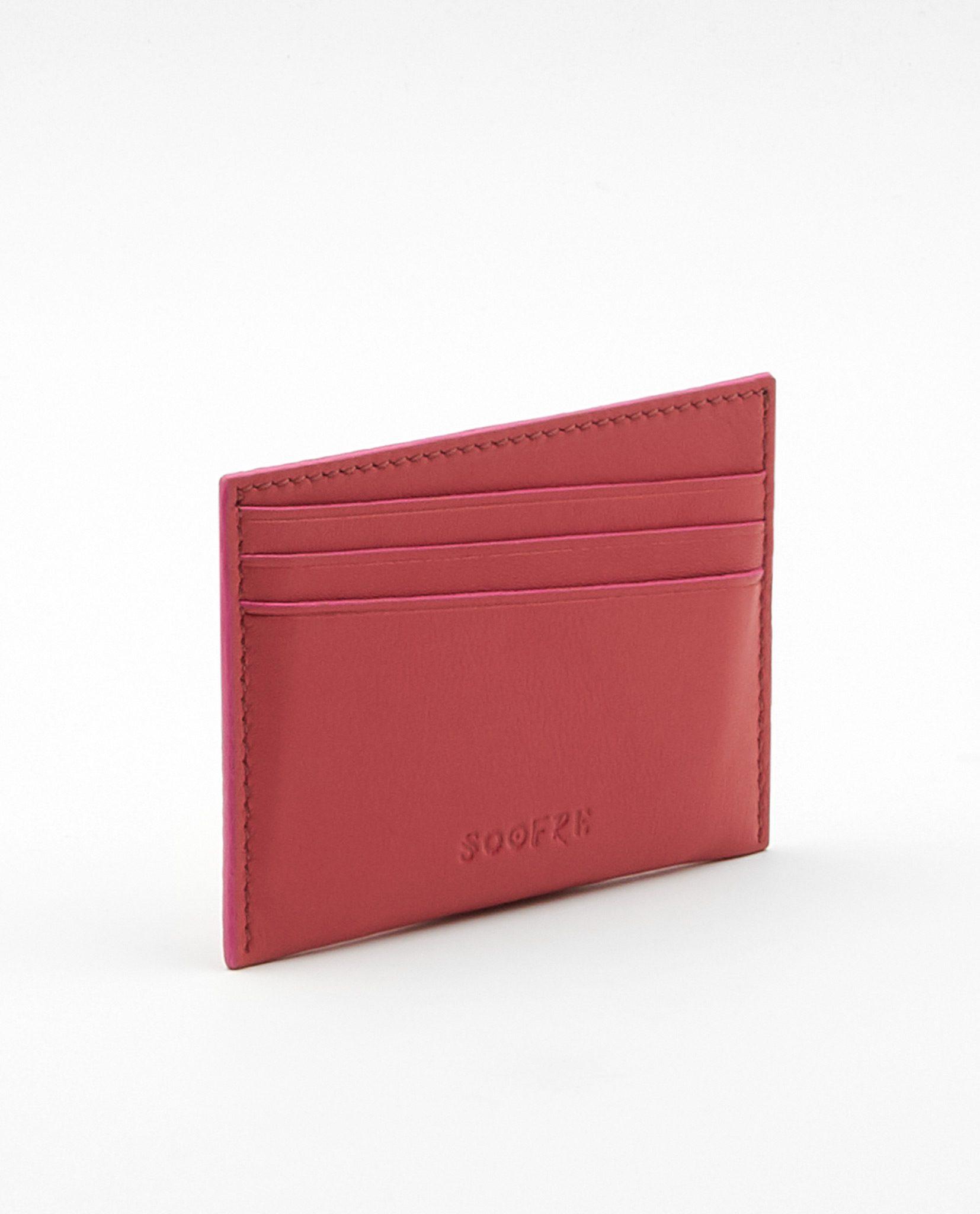 Soofre_Card-Holder_Coral-Fuchsia_1