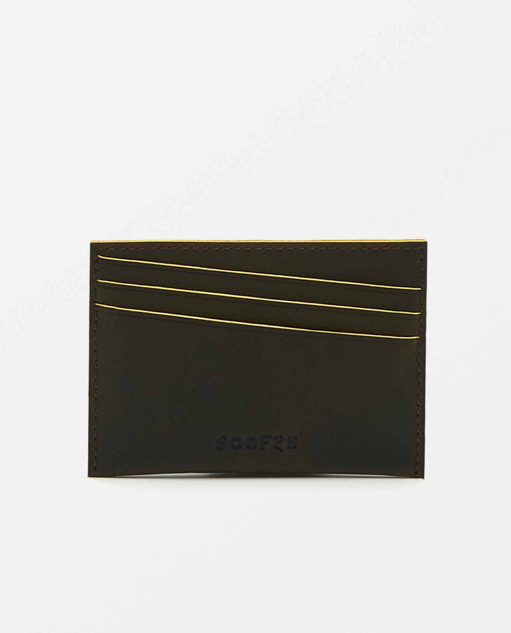 Soofre_Card-Holder_Dark-Brown-Yellow_3