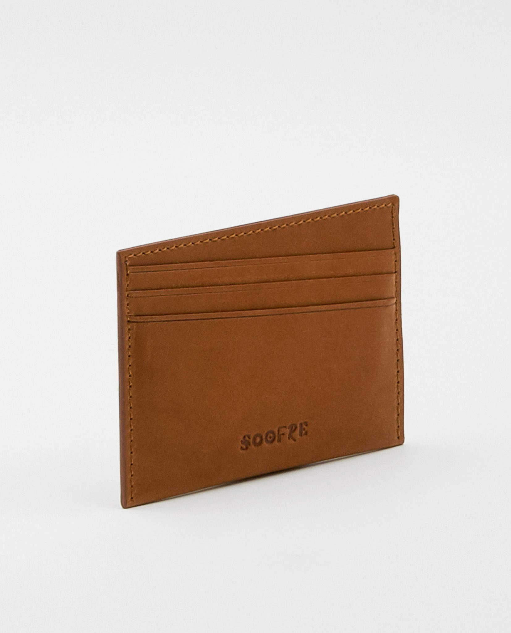 Soofre Vegetable Tanned Leather Card Holder Tan