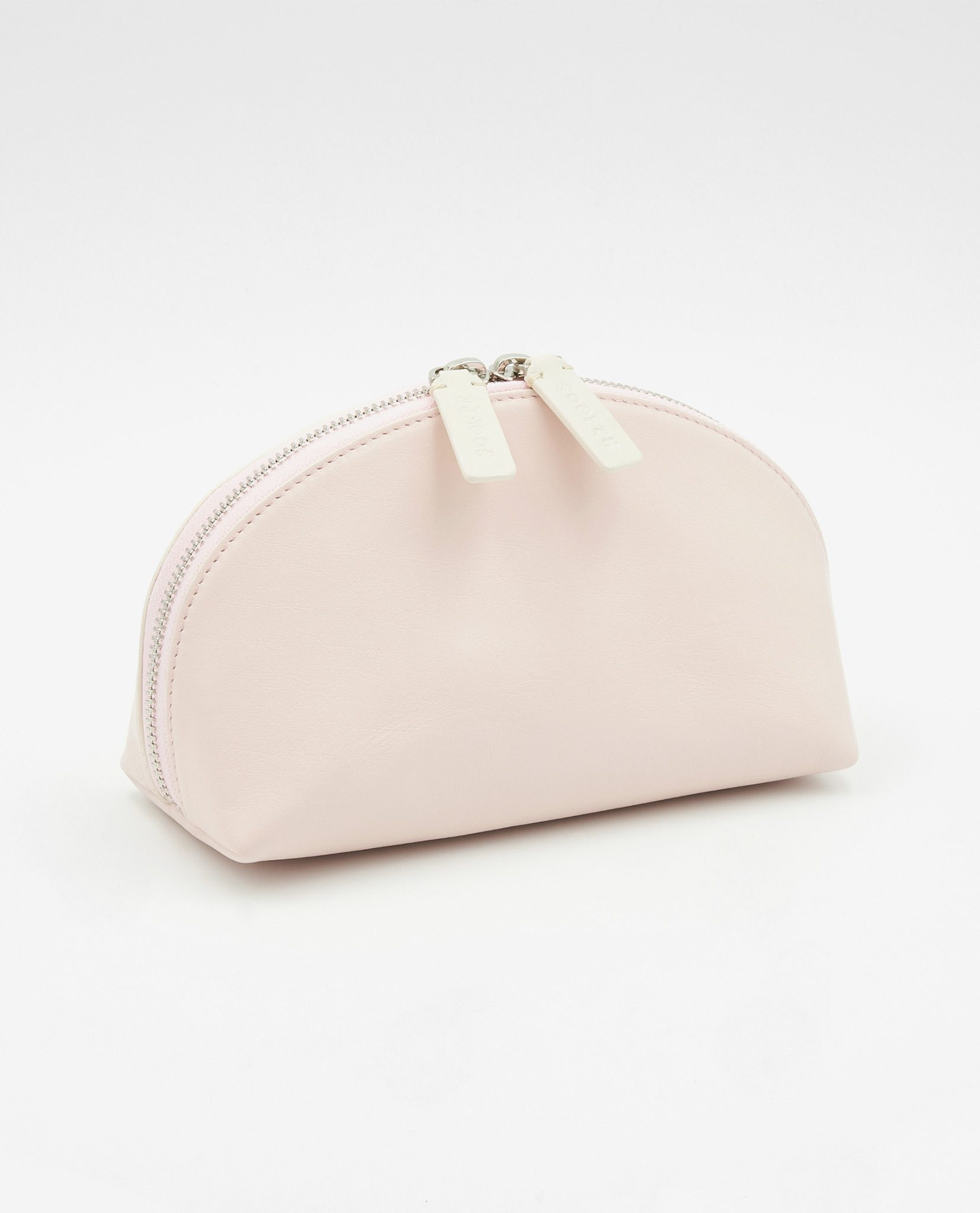 Soofre Smooth Leather Cosmetic Bag Blush Beige