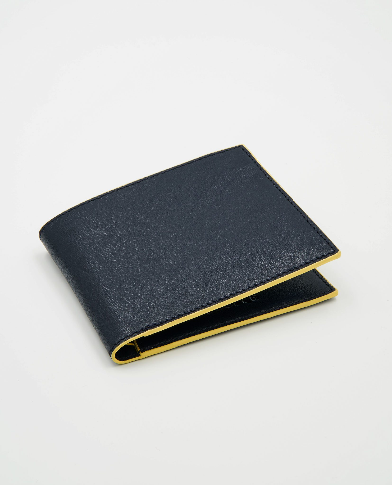Soofre Men's Wallet Soft Leather navy-yellow
