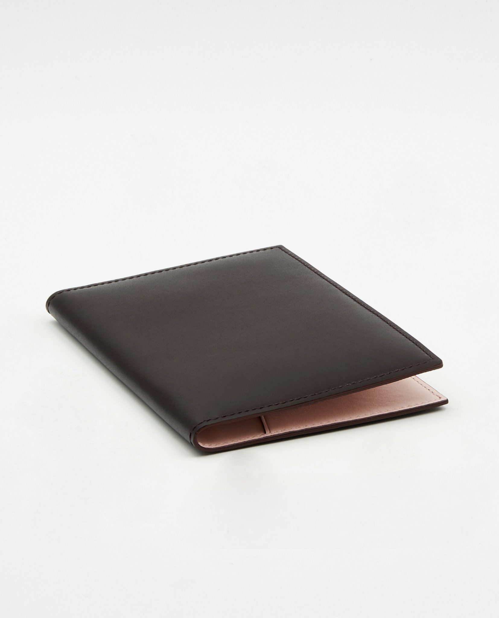 Soofre Smooth Leather Passport Holder Color Burgundy Blush