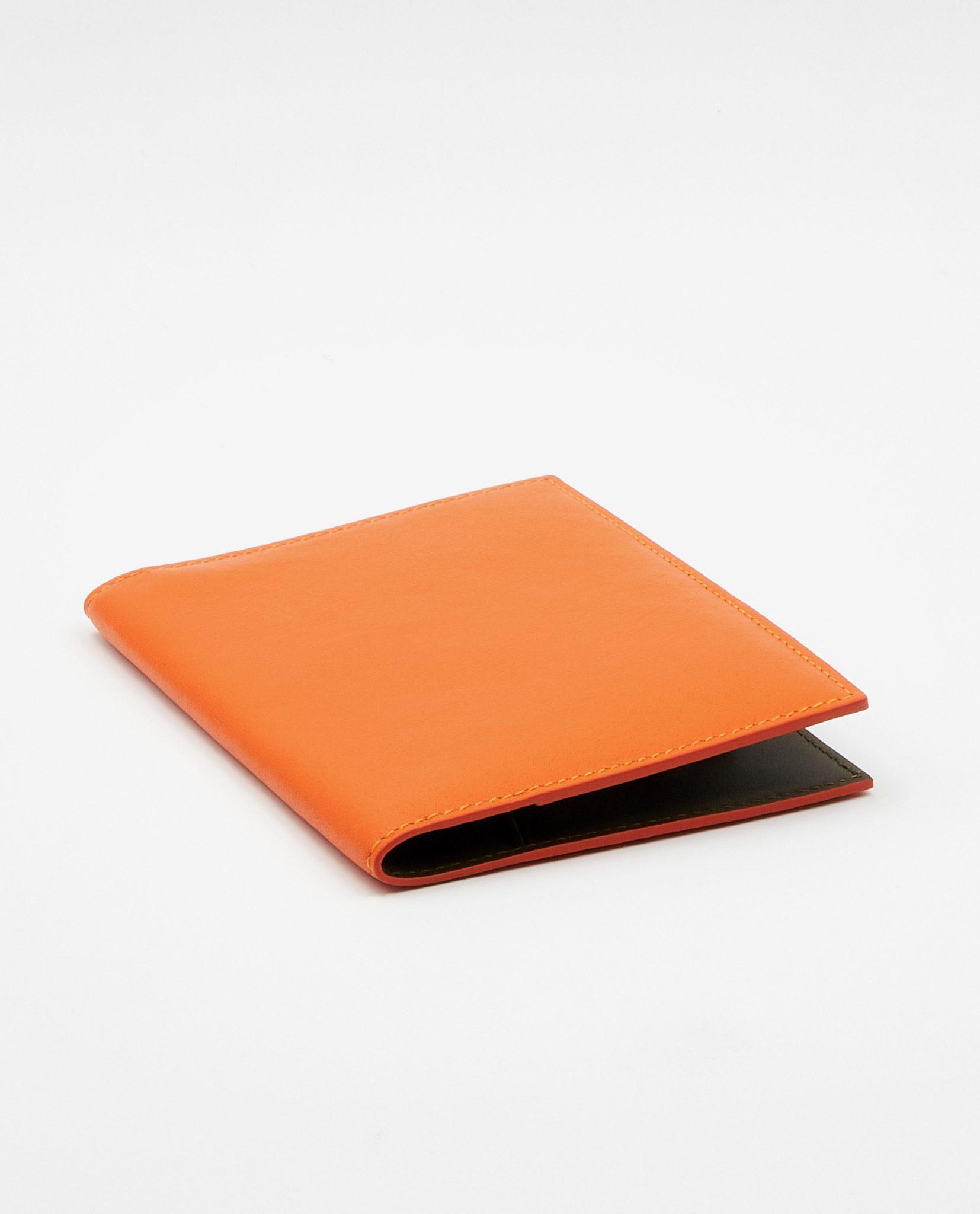 Soofre Smooth Leather Passport Holder Color Orange Khaki