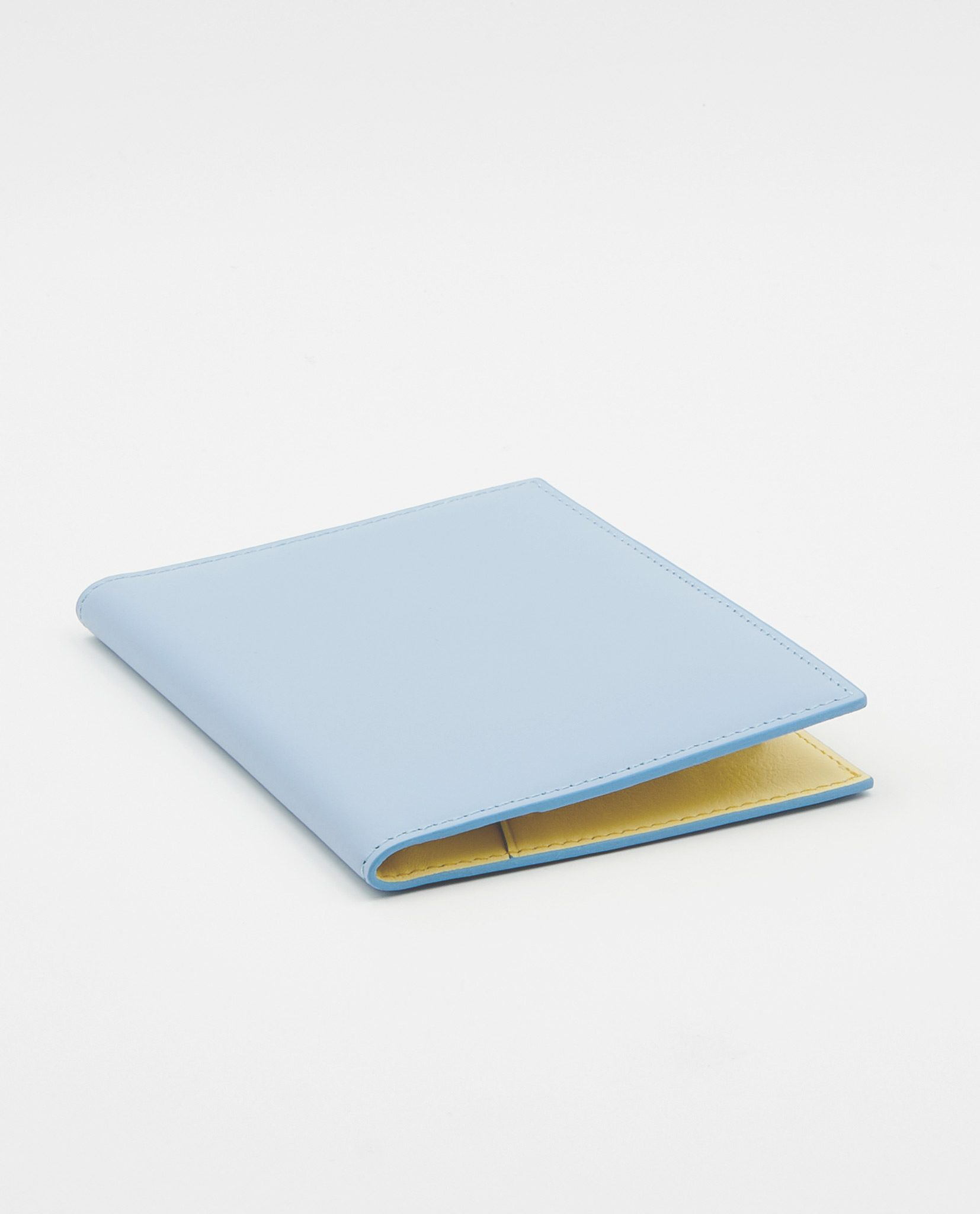 Soofre Smooth Leather Passport Holder Color Pale Blue Light Yellow