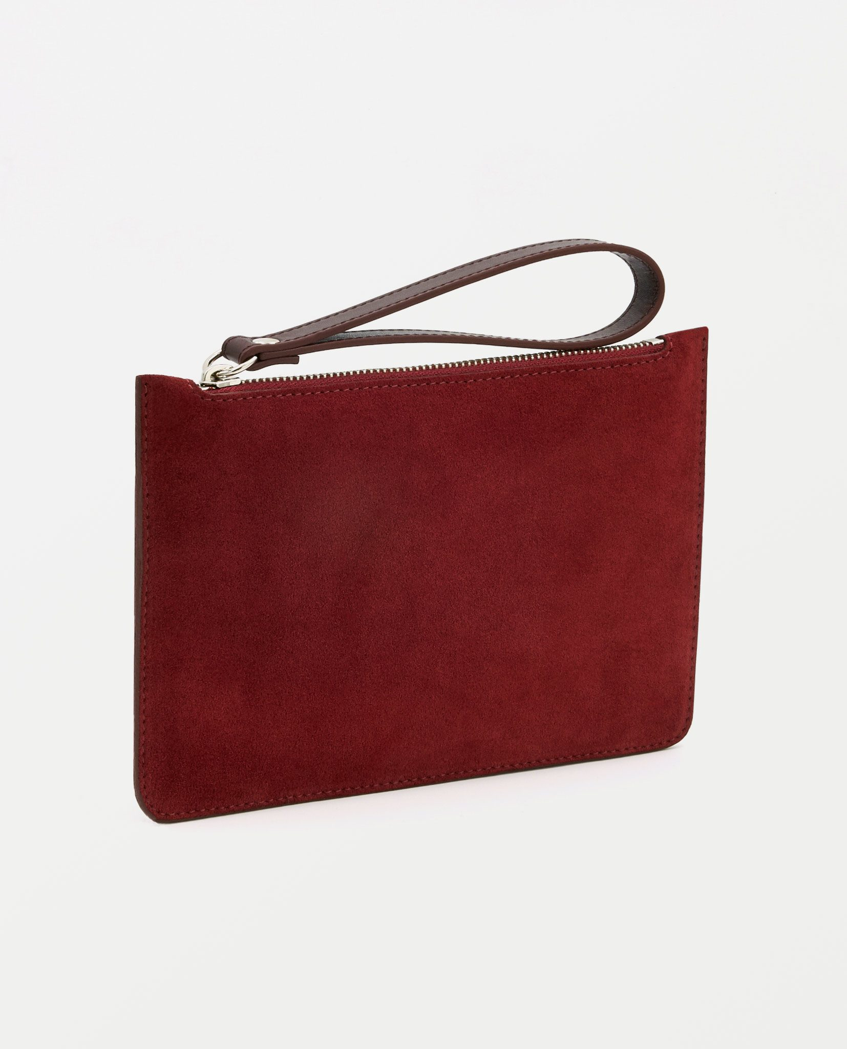 Soofre Small Suede Leather Pouch Burgundy