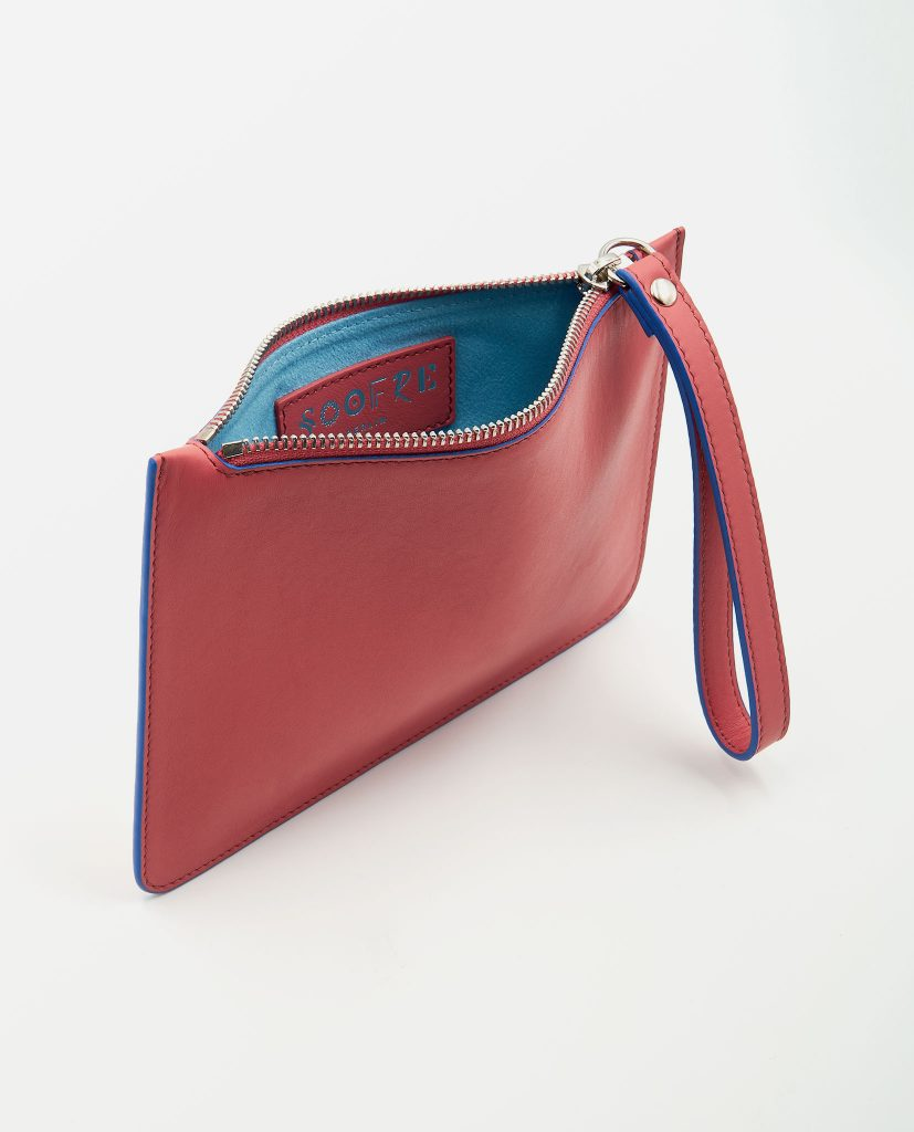 Soofre Small Pouch Coral-Pale Blue