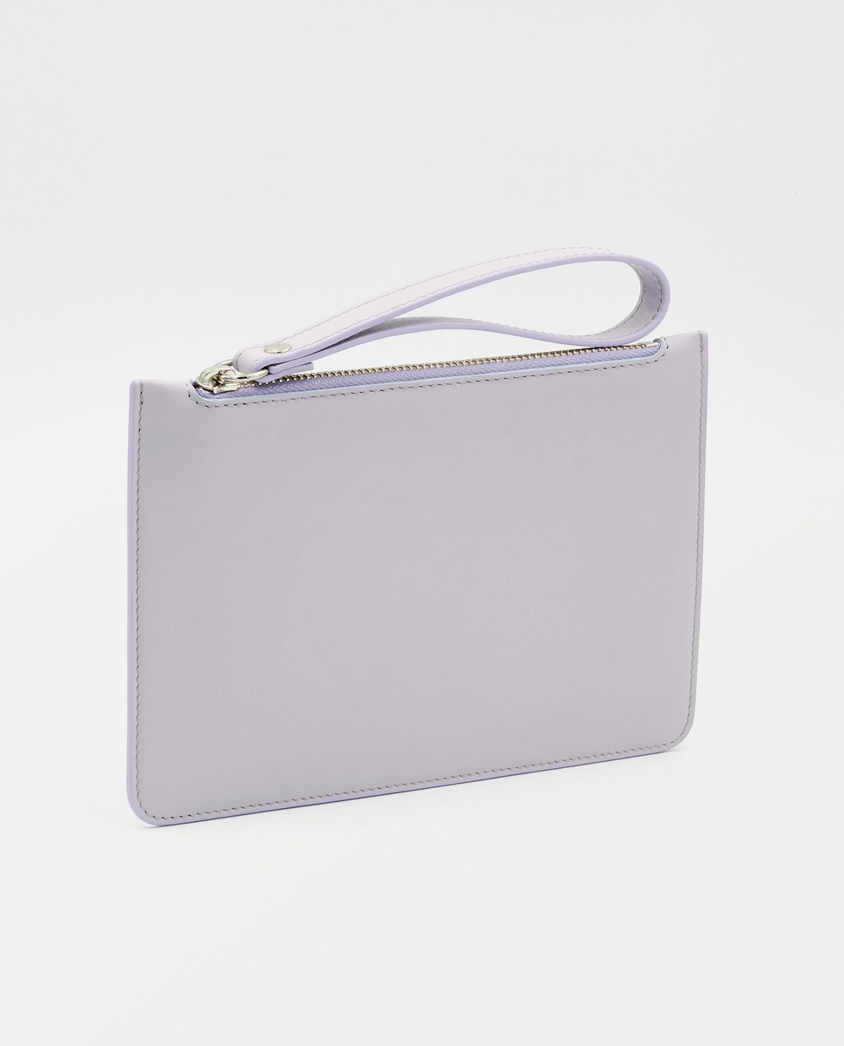 Soofre Small Smooth Leather Pouch Lilac