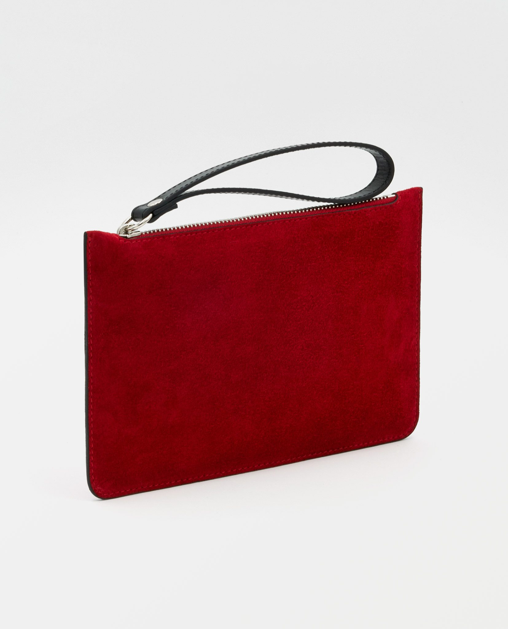 Soofre Small Suede Leather Pouch Red-Black