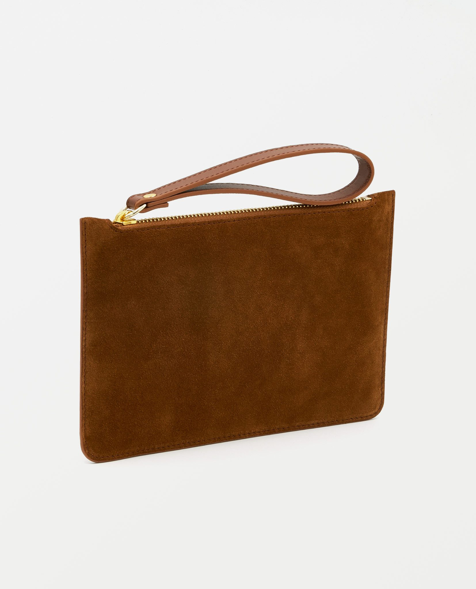 Soofre Small Suede Leather Pouch Tan