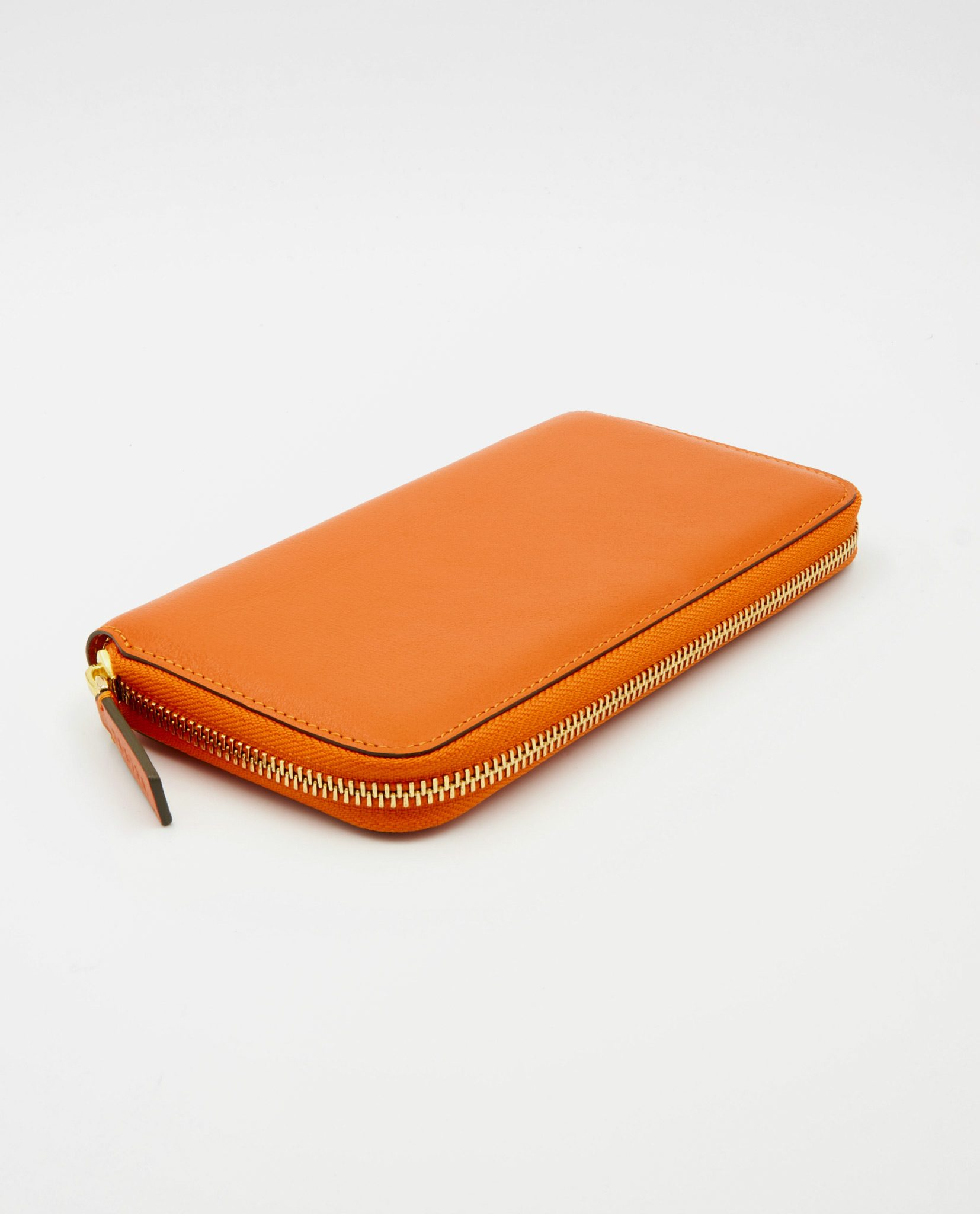 Soofre Women's Zip Wallet Crocodile Embossed Leather Orange-Khaki