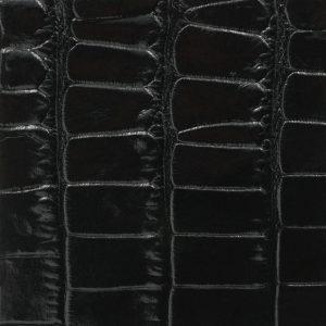 Soofre Crocodile Embossed Leather Color Black
