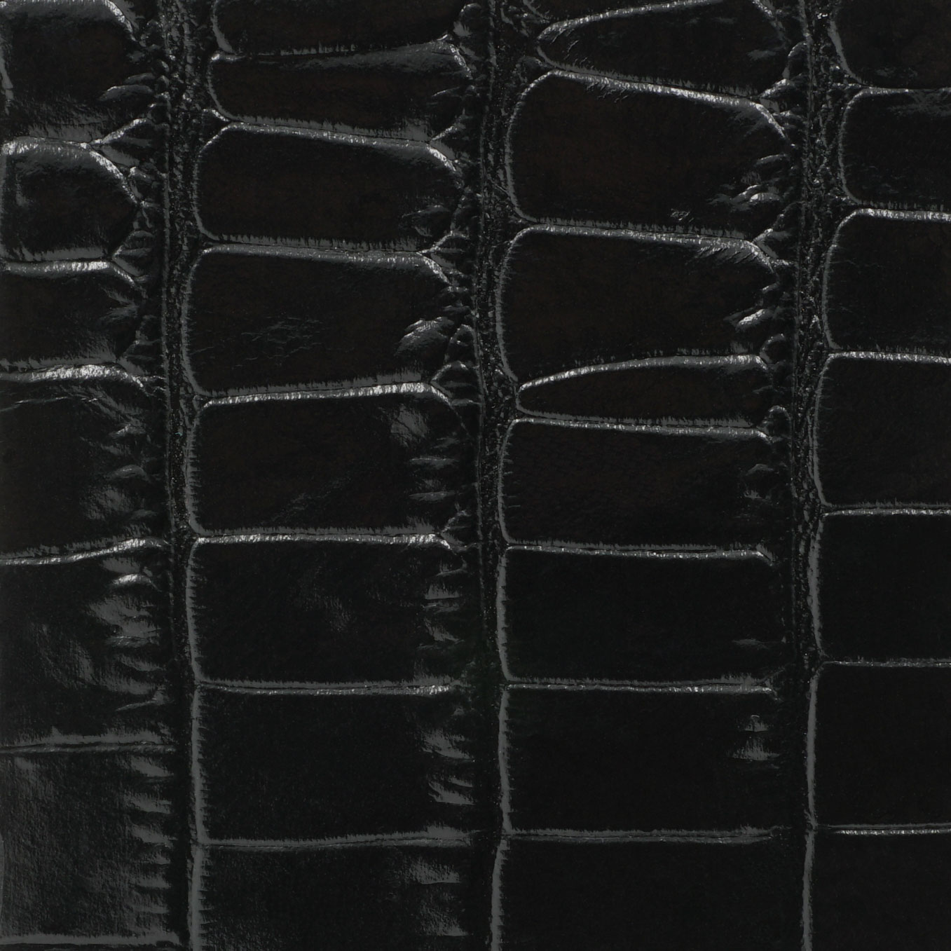 Soofre Crocodile Embossed Leather Color Black
