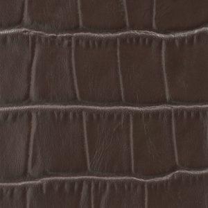Soofre Crocodile Embossed Leather Color Dark Brown
