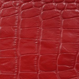 Soofre Crocodile Embossed Leather Color Red