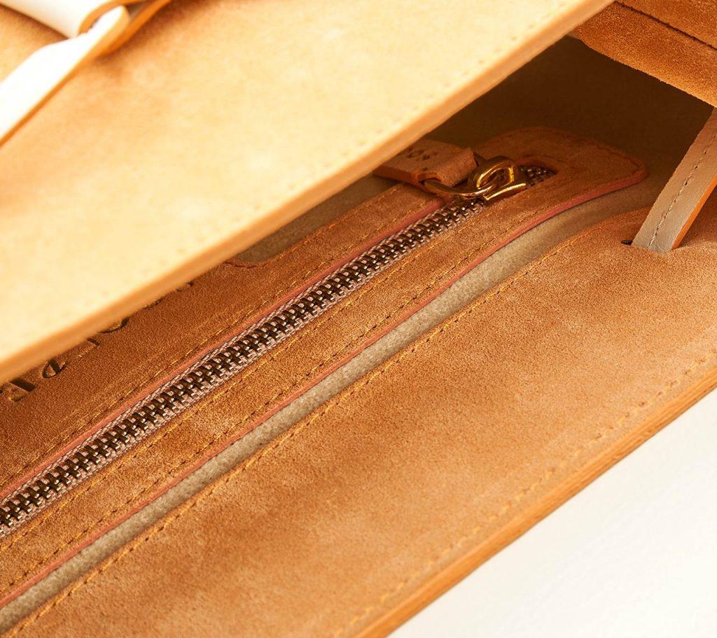 Soofre Suede Backpack with gold Hardware Inner Pocket