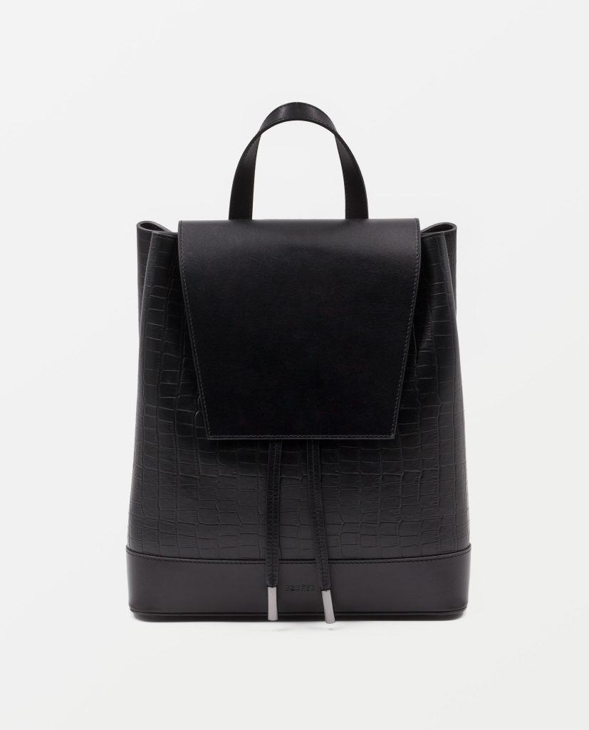Soofre Croco Leather Backpack Color Black