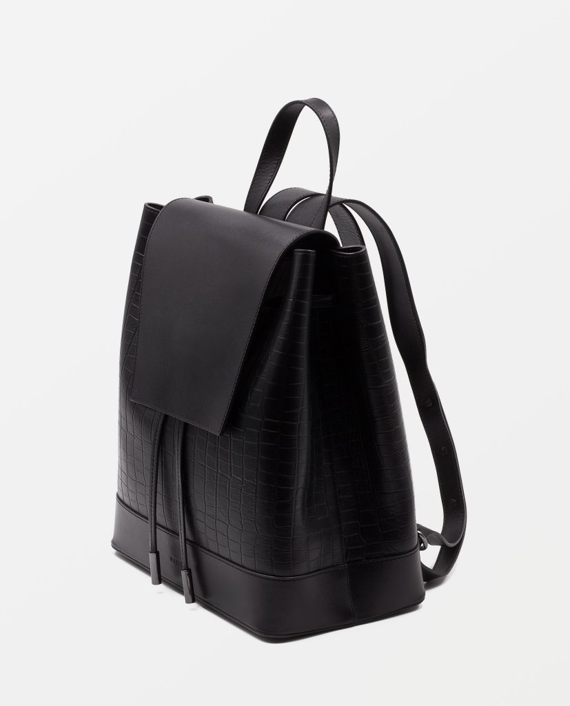 Soofre Backpack Black Croco Leather
