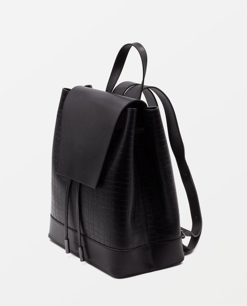 Soofre Backpack Black Croco Leather