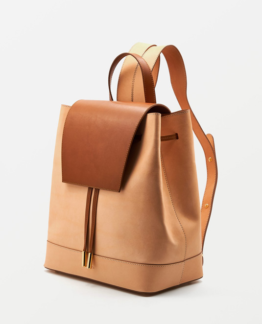 Soofre Natural Tanned Leather Backpack Color Natural-Tan