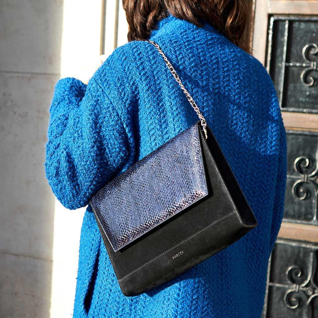 f25bb177cde6 Berlin-Street-Fashion-Soofre-Suede-Leather-Clutch. Home   Handbags   Unique  Clutch MARLENE – Croco Purple Lilac ...