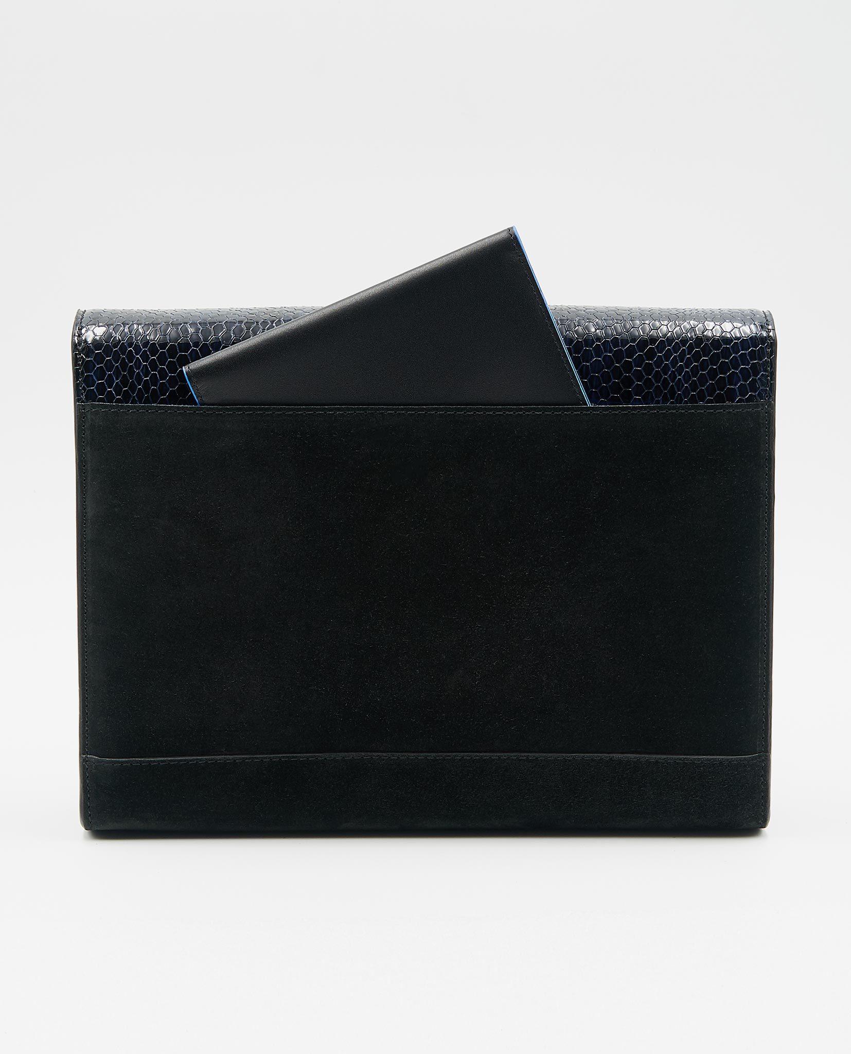 cef5a53b596b Soofre Clutch limited Black-Snake 3. Berlin-Street-Fashion-Soofre -Suede-Leather-Clutch. Home   Handbags   Unique Clutch MARLENE – Croco  Purple Lilac ...