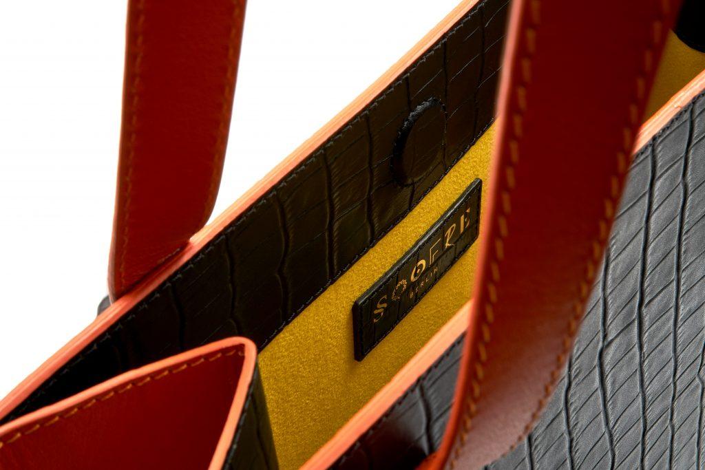 Soofre fully customisable Shopper Bag Frida Black Orange