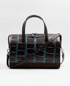 SOOFRE-Berlin-unique-Bowler-Bag-croco-brown-brown-FRONT