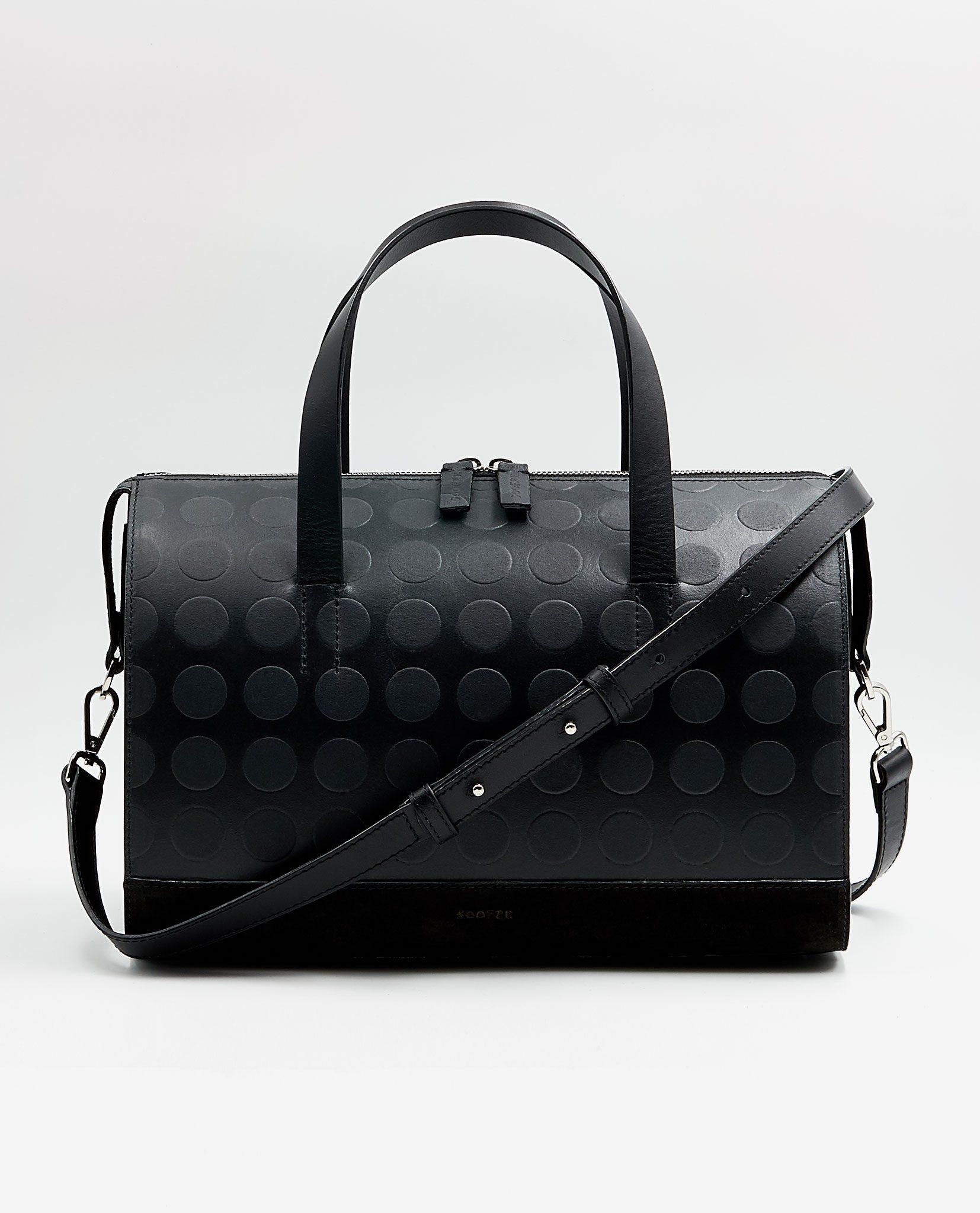 SOOFRE-Berlin-unique-Bowler-Bag-dotted-black-black-FRONT