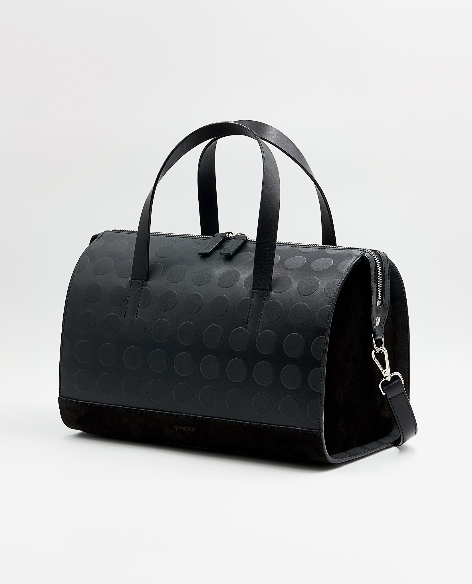 SOOFRE Berlin unique Bowler Bag dotted black/ black