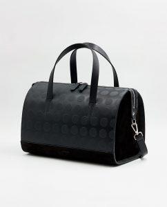 SOOFRE-Berlin-unique-Bowler-Bag-dotted-black-black-SIDES