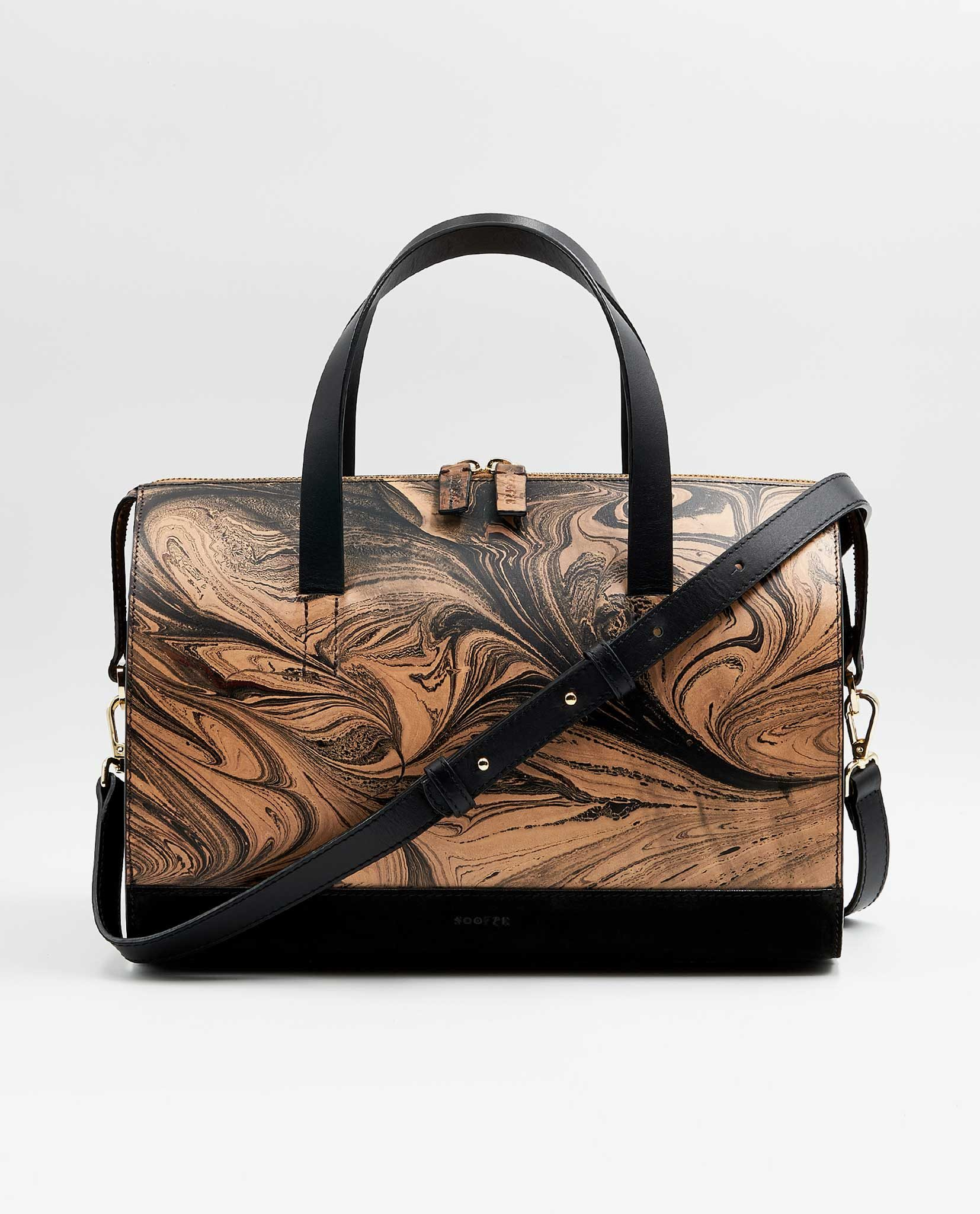 SOOFRE-Berlin-unique-Bowler-Bag-marble-black-black-FRONT