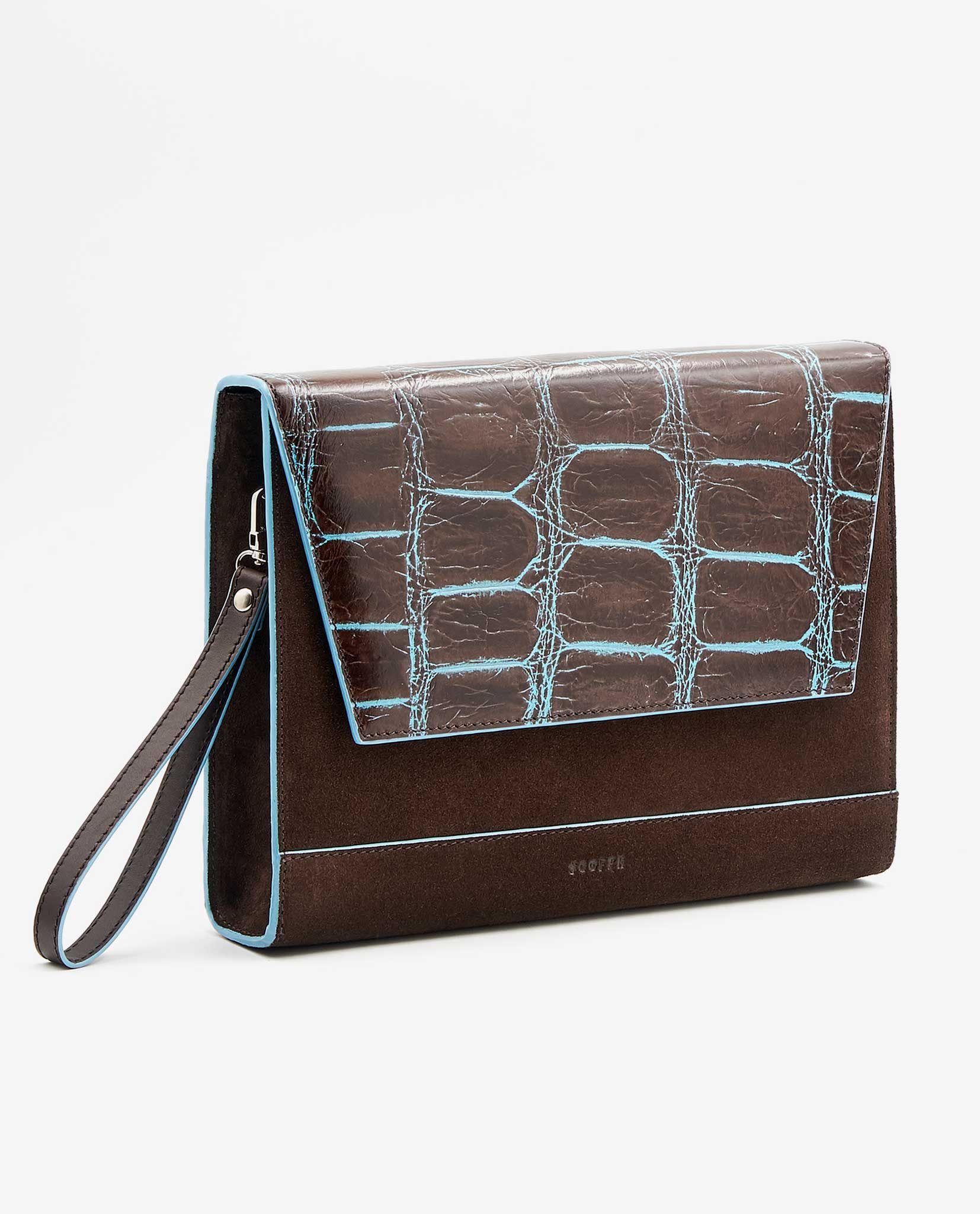 SOOFRE Berlin unique Clutch croco brown brown