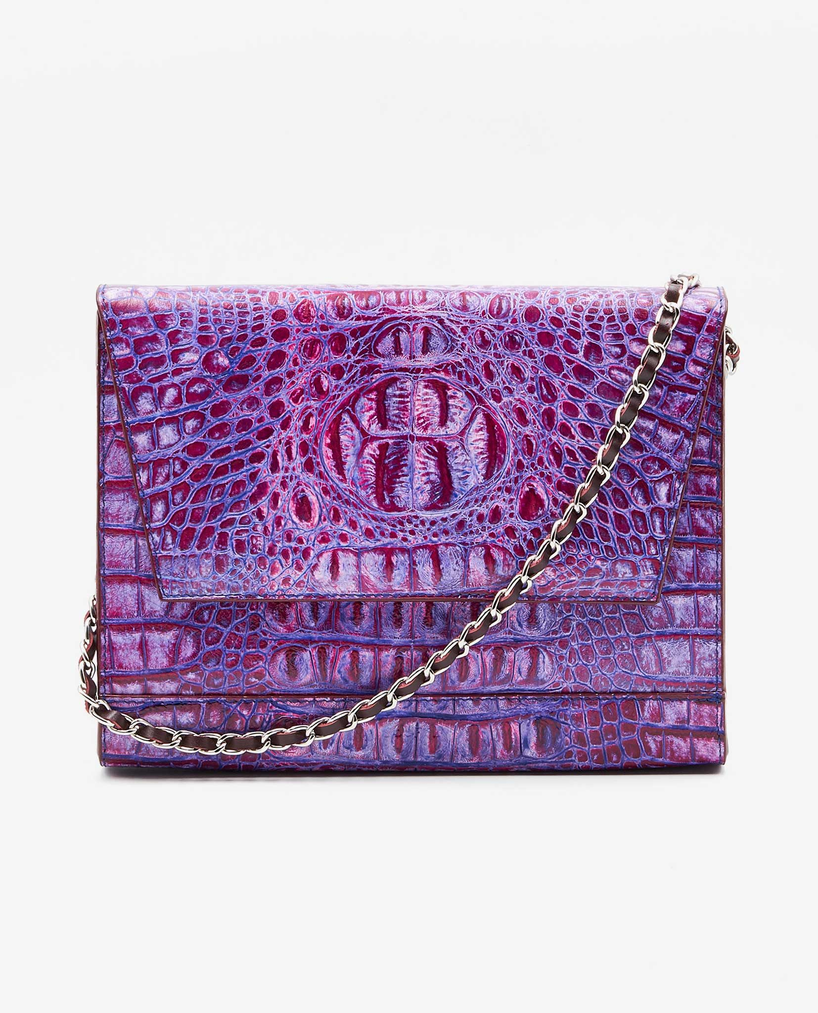 SOOFRE-Berlin-unique-Clutch-croco-purple-lilac-dove-grey-FRONT