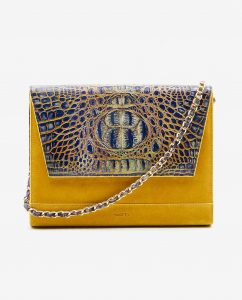 SOOFRE-Berlin-unique-Clutch-croco-yellow-yellow-FRONT_2