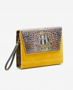 SOOFRE-Berlin-unique-Clutch-croco-yellow-yellow-SIDES