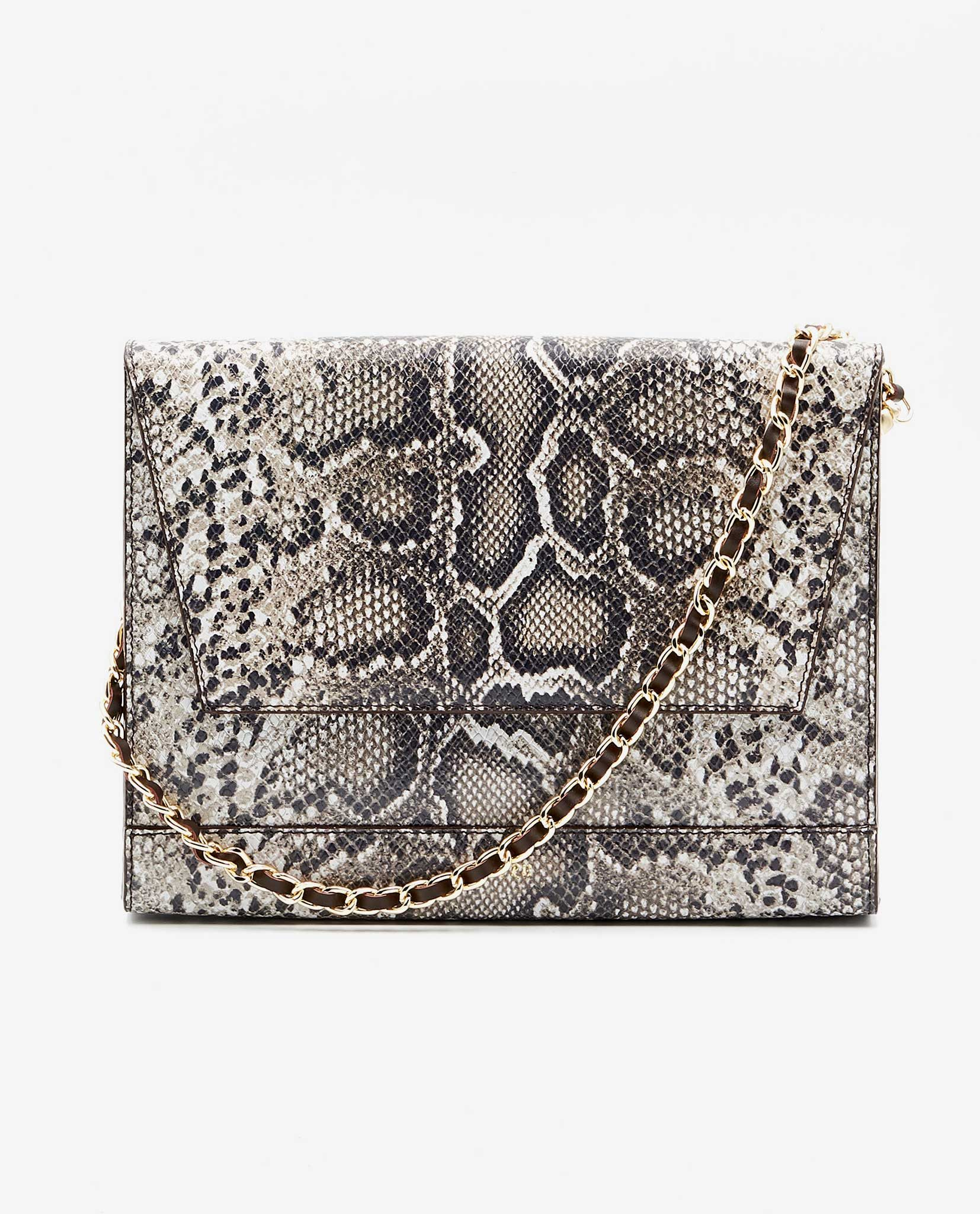 SOOFRE-Berlin-unique-Clutch-snake-brown-ivory-FRONT