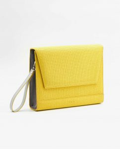 SOOFRE-Berlin-unique-Clutch-squared-yellow-dove-grey-SIDES