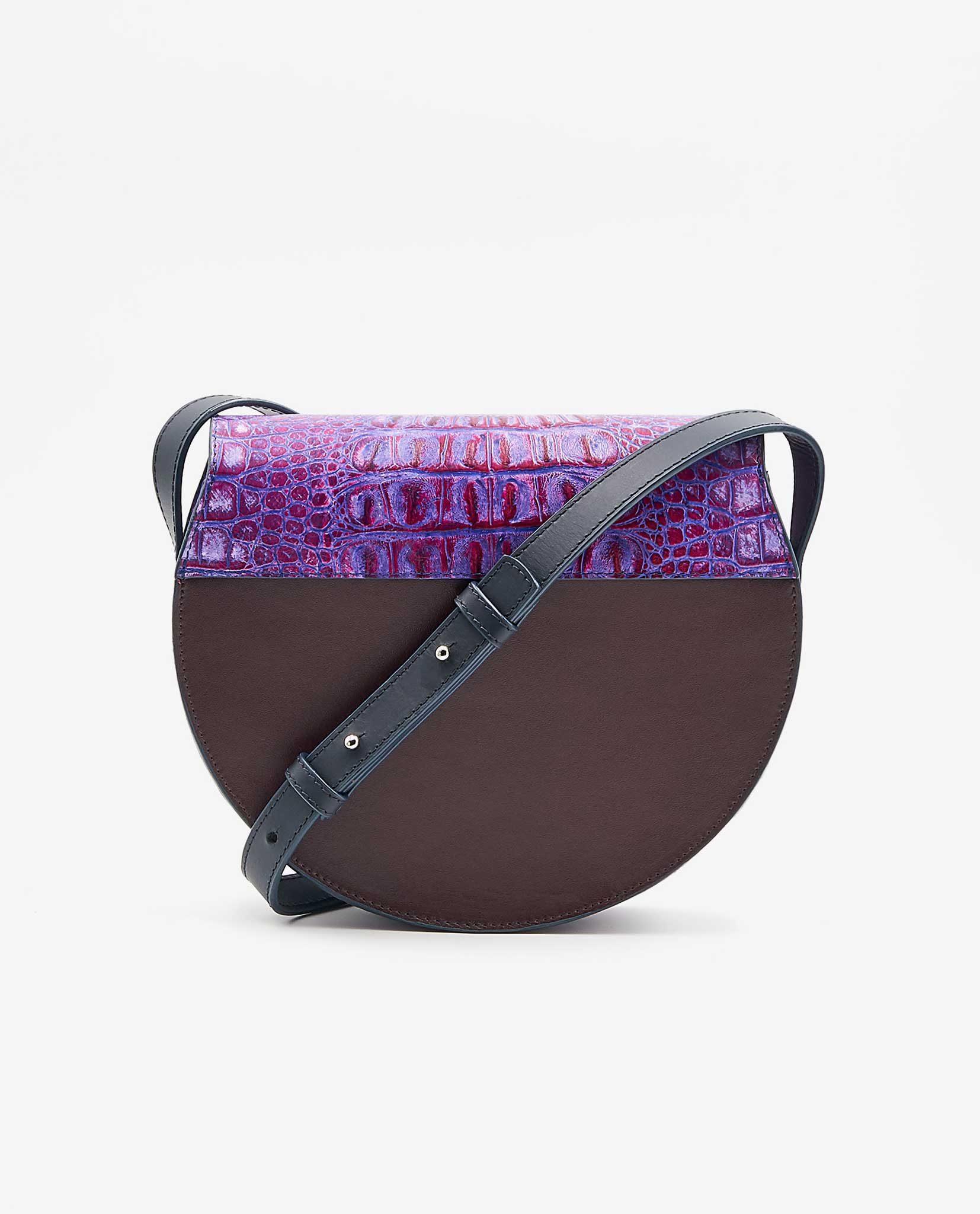 SOOFRE-Berlin-unique-Crossbody-Purse-croco-purple-lilac-burgundy-BACK