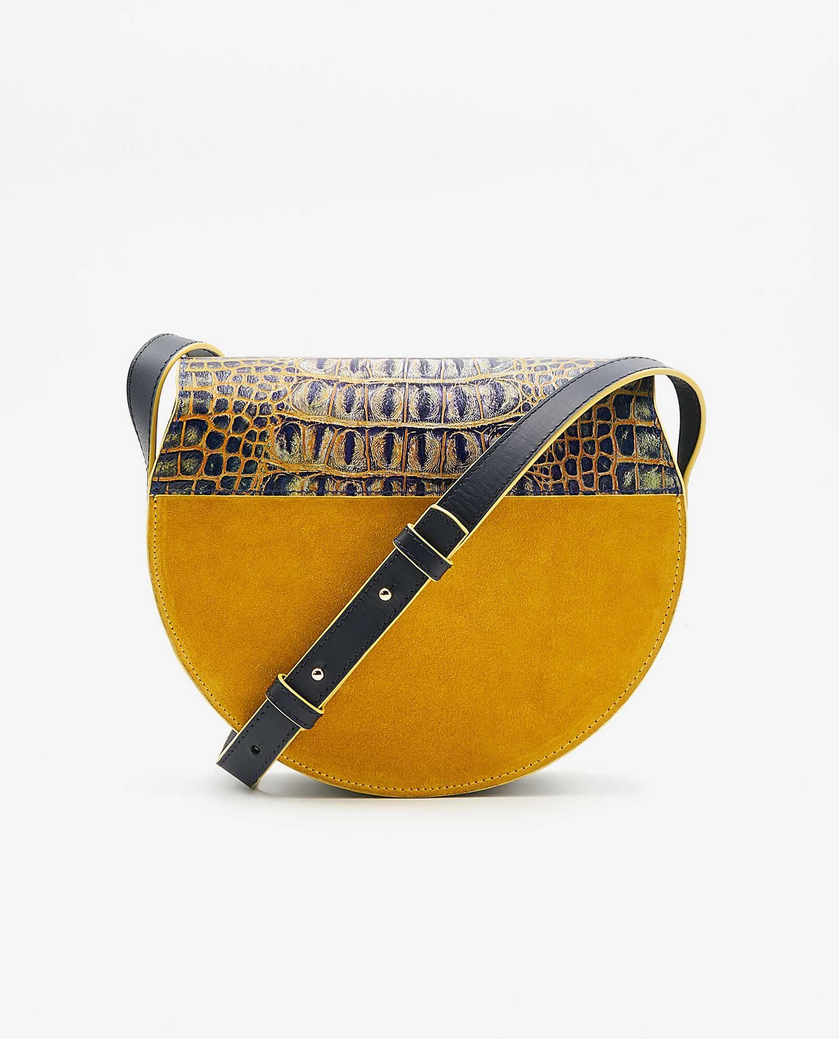 SOOFRE-Berlin-unique-Crossbody-Purse-croco-yellow-yellow-BACK