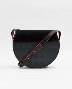 SOOFRE-Berlin-unique-Crossbody-Purse-dotted-black-black-red-BACK