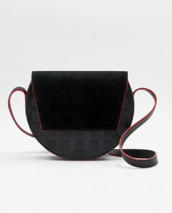 SOOFRE-Berlin-unique-Crossbody-Purse-dotted-black-black-red-FRONT