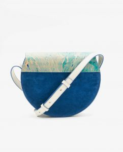 SOOFRE-Berlin-unique-Crossbody-Purse-marble-turquoise-sapphire-blue-BACK