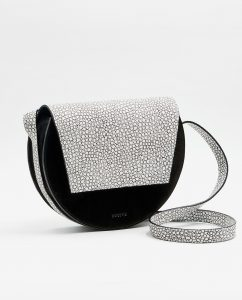 SOOFRE-Berlin-unique-Crossbody-Purse-mini-croco-white-black-SIDES