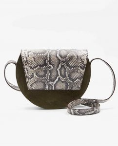 SOOFRE-Berlin-unique-Crossbody-Purse-snake-brown-Khaki-FRONT