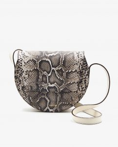 SOOFRE-Berlin-unique-Crossbody-Purse-snake-brown-ivory-FRONT