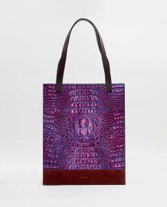 SOOFRE-Berlin-unique-Shopper-Bag-croco-purple-lilac-burgundy-FRONT