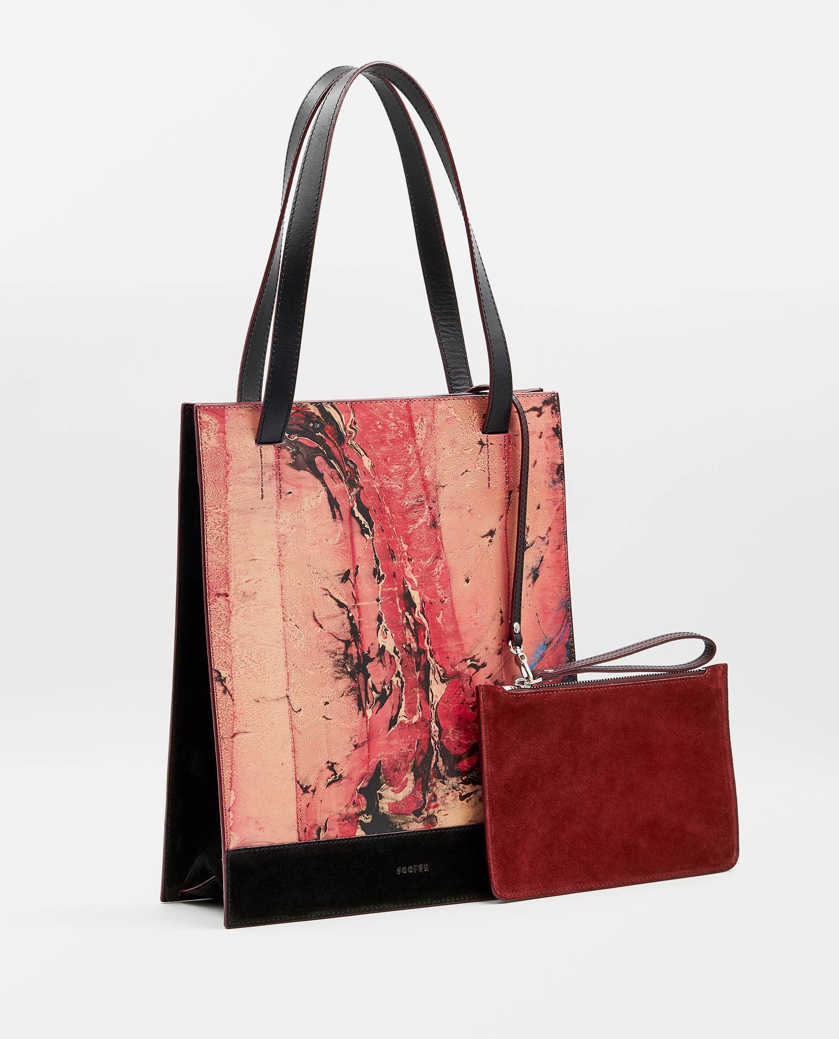 SOOFRE Berlin unique Shopper Bag marble red black